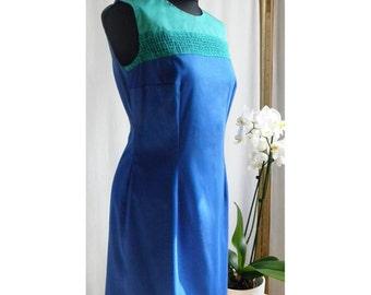 Blue Dress, Summer Dress, Elegant Dress, Cocktail Dress, Green Dress, Sleeveless Dress, Cotton Dress, Women Dress
