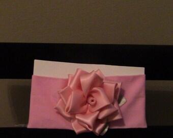 handmade headband with handmade flower