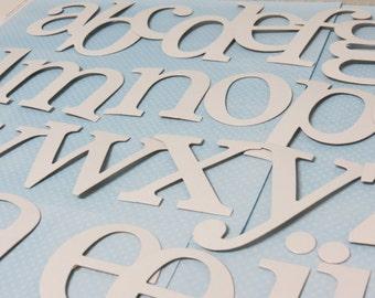 Set of lower case Roman Alphabet Die-Cuts