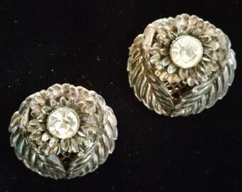 Unique vintage clip-on earrings
