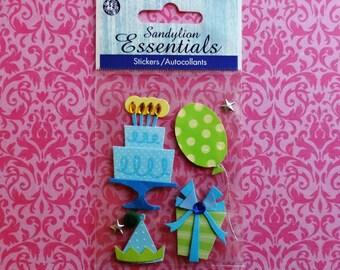 Birthday scrapbook stickers by Sandylion Essentials