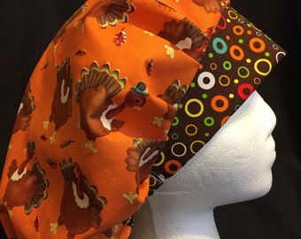 Women's Surgical Scrub Hat Bouffant Thanksgiving/Fall