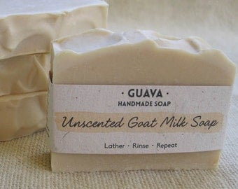 Unscented Goat Milk|Handmade|Plain|Cold Process|Natural|