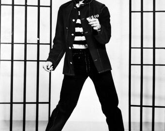 Elvis Presley Jailhouse Rock Glossy Black & White Photograph Music Print Picture