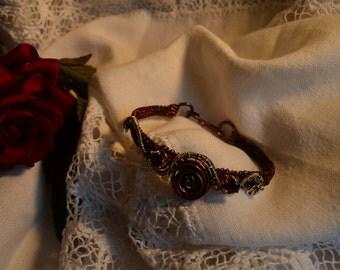 Unique copper wire woven Bracelet