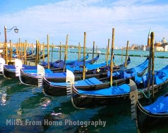 Venice Gondolas 8x10 Print + Mat