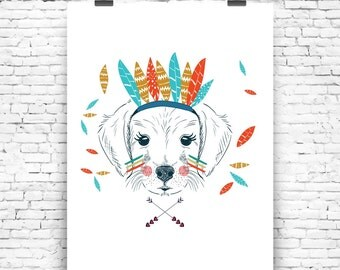 Art Print Cute Dog