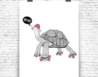 Hello turtle Wall Art Print