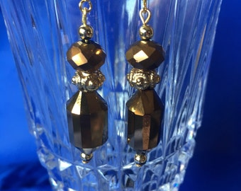 Brown and Gold Earrings 1