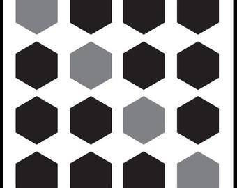 Black & Grey Hexagons