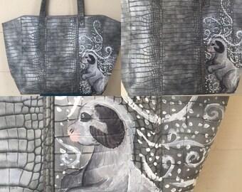 Taun Taun hand painted Star Wars inspired shoulder bag