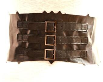 Faux Leather Decorative Waist Cinch - JR09227