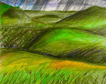 Prairie Storm {ART PRINT} Kate Wilwert