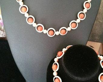 Red Aventurine necklace + Bracelet