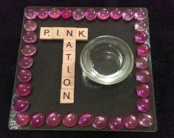 Pink Nation Candle Holder