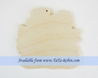 254-S Snow Couples Ornaments - Wooden Surface