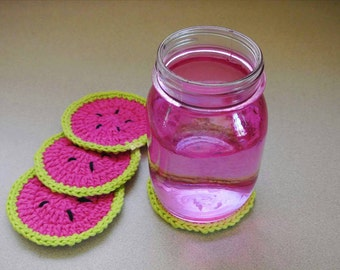 Watermelon coasters.