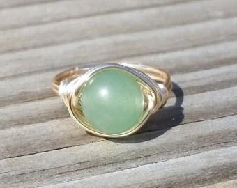 Natural Green Aventurine Ring