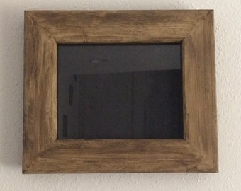 Rustic 8x10 picture frame with glass, Reclaimed wood picture frame with glass,