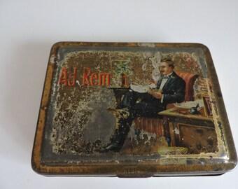Vintage Cigarette Case, Cigarette Holder, Metal Cigarette Case, Cigarette Box, Ad Rem, Rare, 1920s, 1930s,