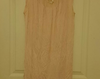 vintage sweet baby pink nighty nightgown