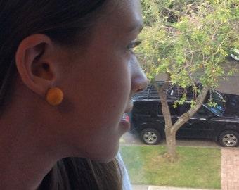Felted Pom-Pom Earrings