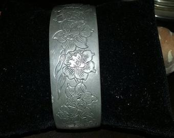 Vintage Cuff Bracelet ~ Pewter