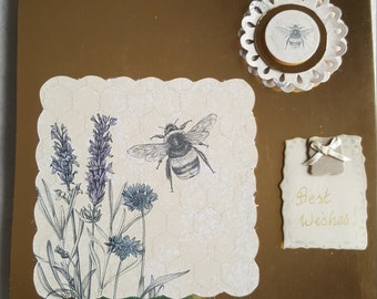Bees and Flowers Card