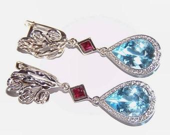 earrings blue topaz 12