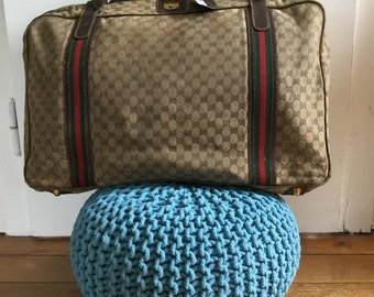 GUCCI, suitcases, travel, luggage, vintage 1970s