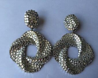 Swarovsky Crystal Clip-on Earrings
