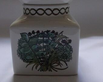 Retro 1960's Taunton Vale Bouquet Garni Design Storage Jar. Ideal for your Retro Kitchen