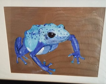 blue frog painting