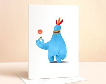 Chirpy Chick Card | Easter Card | Happy Easter | Kids Birthday | Greeting Cards | Nursery Art | Childrens Art | Childrens Card | Quirky Art