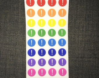 Bright Exclamation Stickersheet