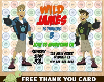 Wild Kratts Invitation