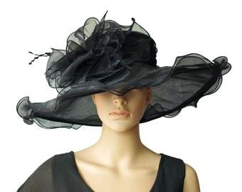 Wedding/asco/bridal HAT  .  Very Wide  , Size- M              o