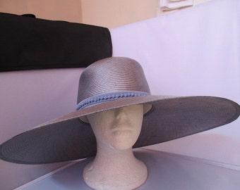 WEDDING/Ascot /Bridal Tom Bowker Designed HAT .SIZE-M .Very Wide