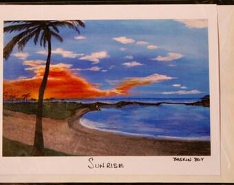 Greeting Card - ocean sunrise