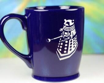 FREE SHIPPING Personalized Dalek Doctor Who Inspired coffee mug