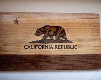 California Flag 12x20 wood