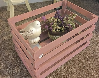 Painted Wooden Crate