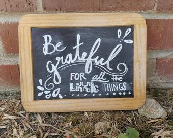 Grateful/Joy Vintage Slate Chalkboard