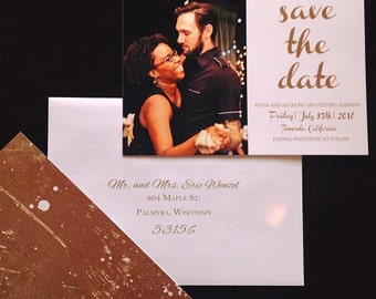 Gold Splatter Save the Date (starting at 1.61 ea)