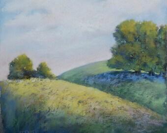 Sunny Hills original pastel painting