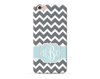Monogrammed iPhone 7 Plus case chevron pattern, iPhone 7 case iphone 6s iphone 6 plus iphone SE 5S 5C case personalised cover with initials