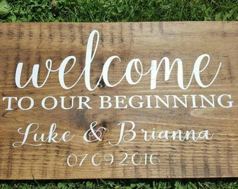 Welcome Wood Sign | Family Name Sign | Establishment Sign | Wedding Decor | Rustic Wedding Decor | Rustic Wood Sign | Custom Sign