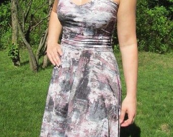 Small expandable dress summer and used pink and silver