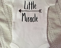 Little Miracle Baby Onesie w/ heart on booty short sleeve FREE SHIPPING