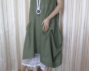 dress and skirt set, lagenlook style, one size, handmade